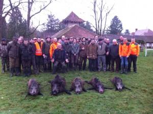 Journée de chasse GG sur la commune de la Ferté-Imbault